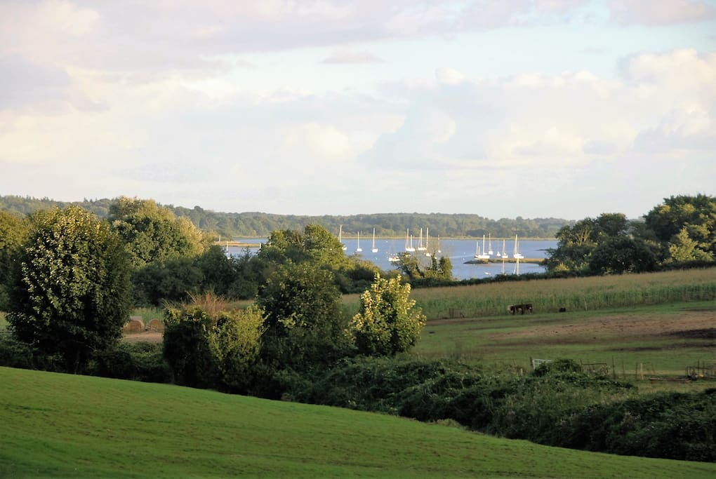 River Deben view from garden