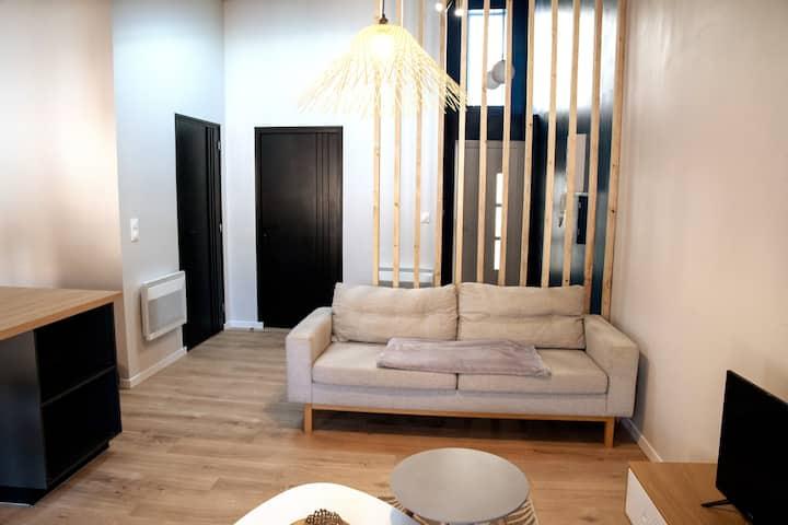 T2 tout confort centre ville, logement entier