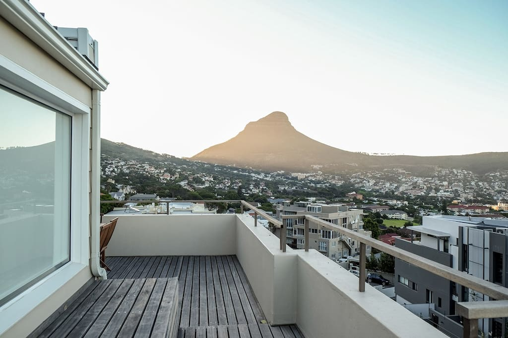 The view of Lion's Head from the balcony