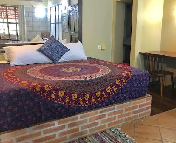 master room (1st floor): king size bed