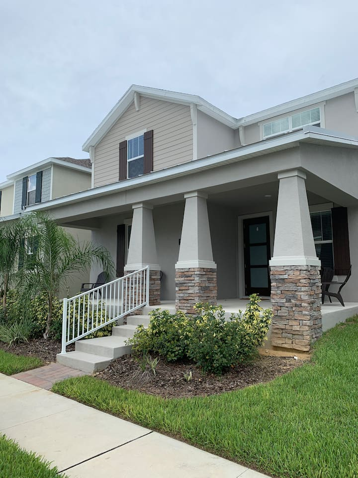 Manicured home.  Brand new.  In charming walkable community with small parks surrounding.  Golf course views.  Large park and pond views.