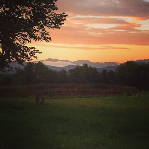 Sunrise on the farm - looking at Mt. Mansfield