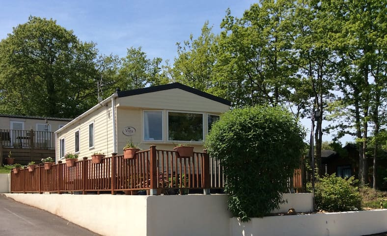 Comfortable caravan on country site near Paignton