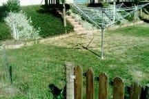 Espace jardin cloturé