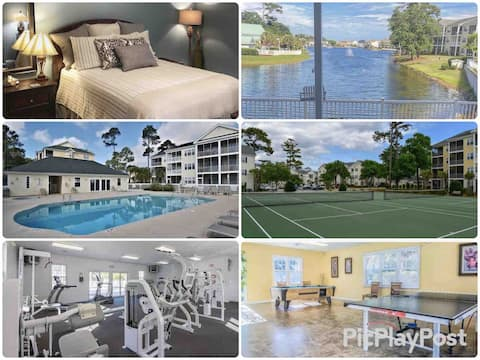 Close to Beach & Main St w/Pool/Gym/Tennis/Hot Tub