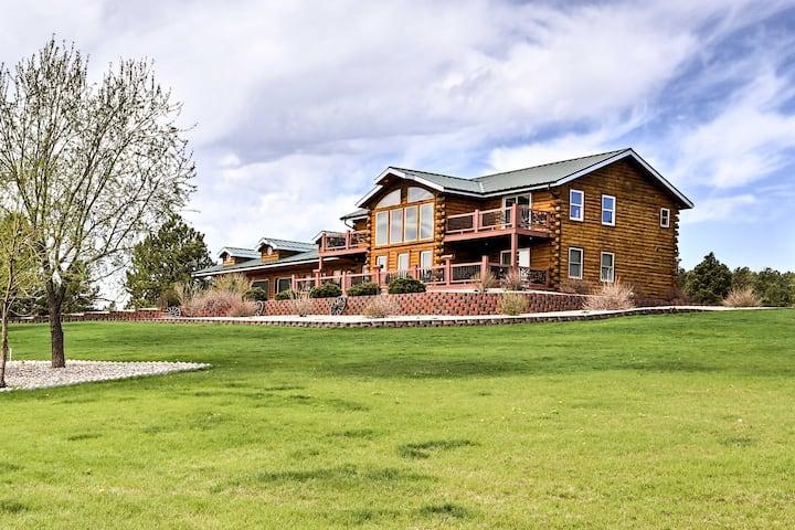 Black Hills Log Cabin w/ Private Pool + Game Room!