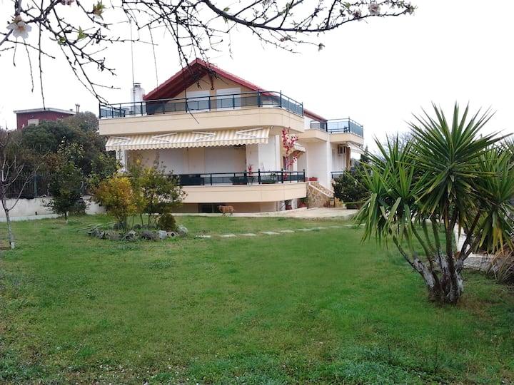Nea Iraklia apartment with garden and view