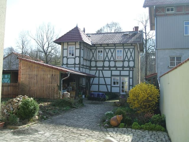 Beautiful half-timbered house, center of Meiningen