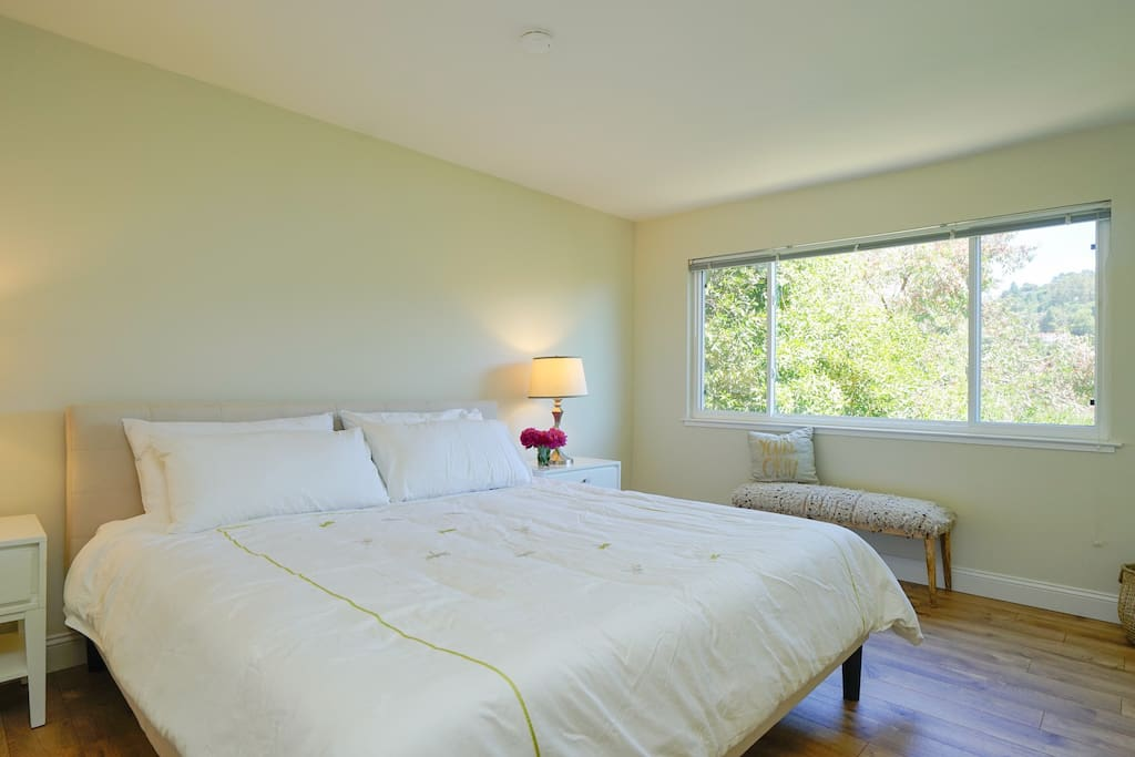 Master bedroom with comfy king size bed