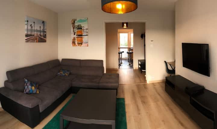 Appt. 3 chambres, soigné et spacieux, Metz Nord