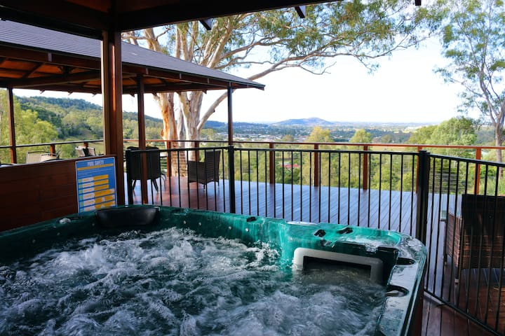 Enjoy a quiet drink while soaking up the view from the jacuzzi