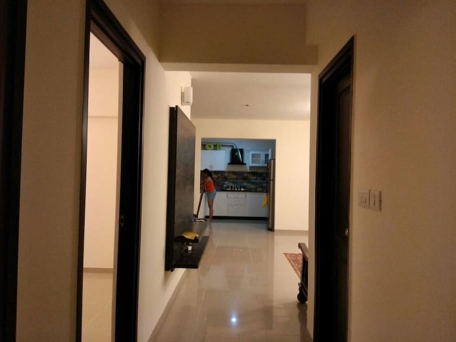 Passage between rooms and living area