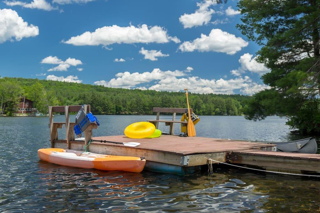 Enjoy swimming, canoeing, kayaking, and fishing in the clean, clear water of Lake Mattawa