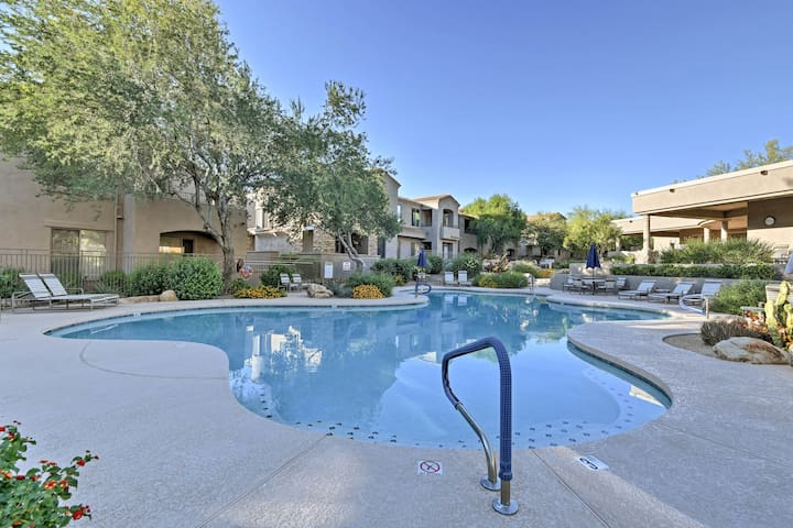 Enjoy the on-site pool, hot tub, and 36 holes of golf as well!