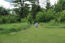 Take a stroll down the mowed path to the river