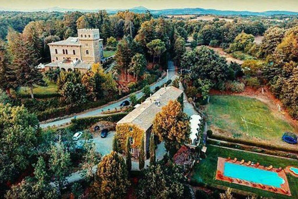 Vista dall'alto della location