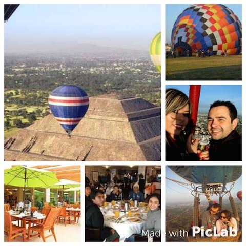 Teotihuacán cultura y diversión. - San Sebastián Xolalpa - อพาร์ทเมนท์