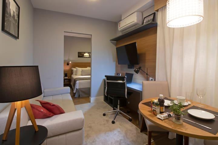 Lindo apartamento mobiliado em Pinheiros