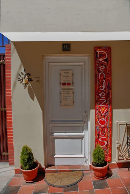 Guest House entrance door