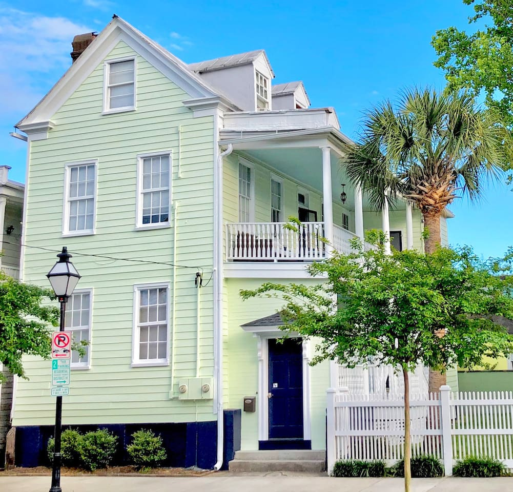 Our home is a traditional 1835 Charleston Single.