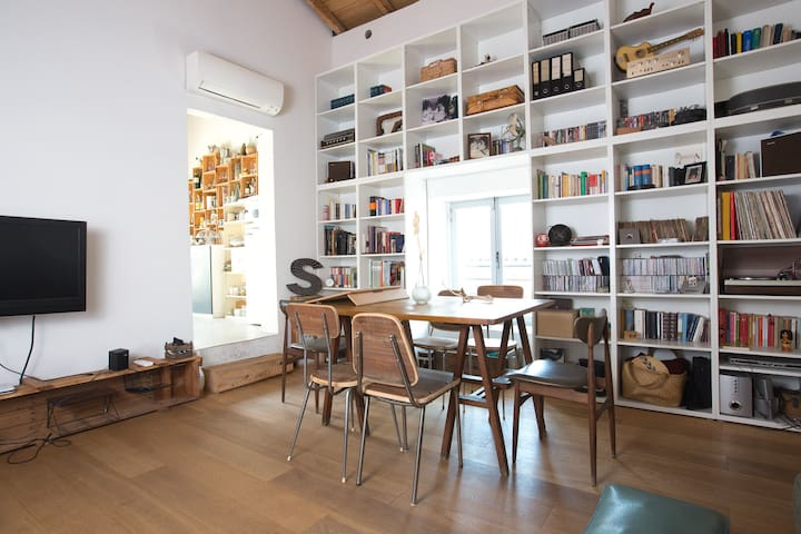Living Room with desk