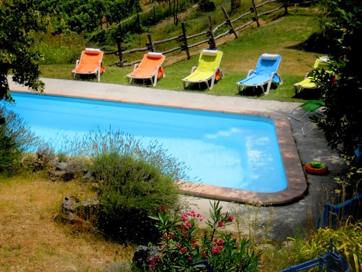 Apartment with 2 bedrooms in Moasca, with private pool, furnished terrace and WiFi