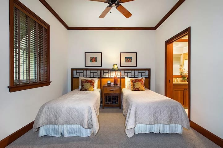 Second room with twin beds.  Beds can be converted to king.  Let us know well in advance.