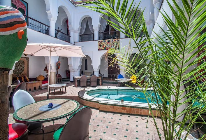 Riad with pool -  Berber room
