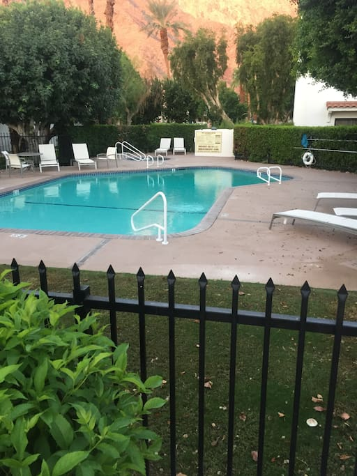 Look at your pool next door, usually pretty private