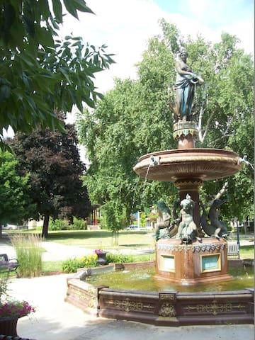 Birge Fountain across the street