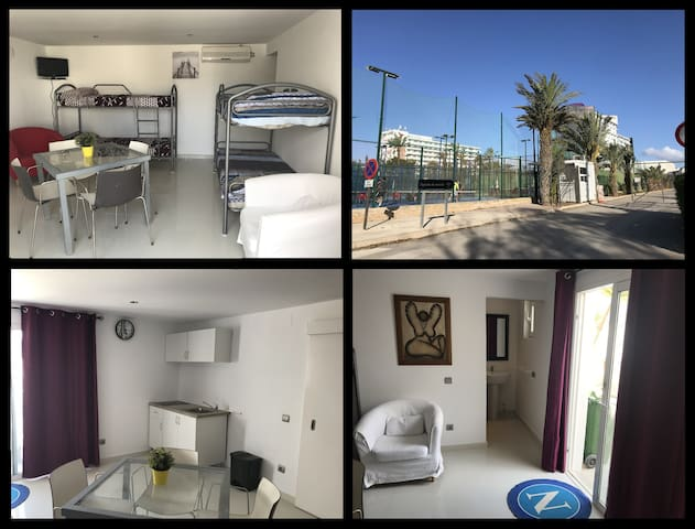 Cozy flat 4p near Ushuaia in Playa d'en Bossa