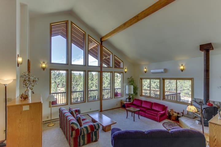 Spacious, secluded home w/ private hot tub & mountain views - dogs welcome!