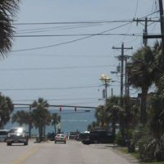 View from the driveway to the beach!  Short 5 minute walk