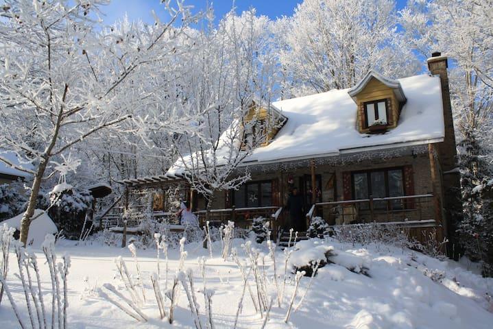 En montagne, raquette et spa  Le ski a 5 minutes - Saint-Sauveur - House