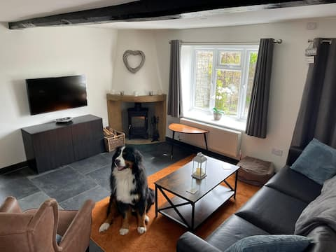Riverside, pet friendly cottage with large garden