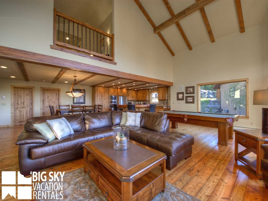 Big Sky Resort, Black Eagle Lodge 30, Living, 3