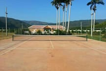 Tennis Court, Basketball Court and Gazebos, Football Field and Jogging Trail