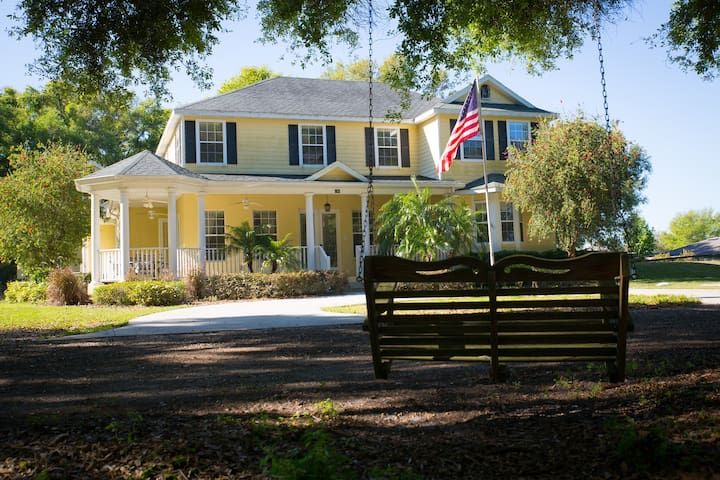 Soul Haven Ranch -Peaceful, Private King Room/Bath - Winter Garden - House
