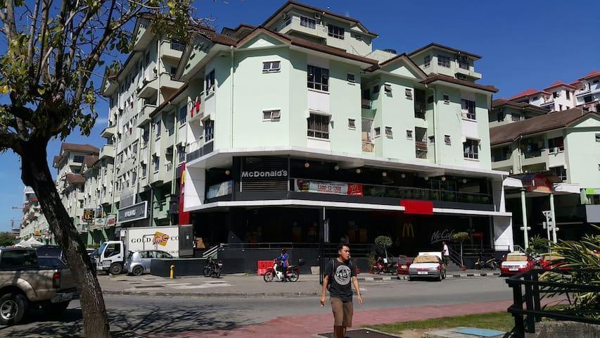 Compact city centre flat