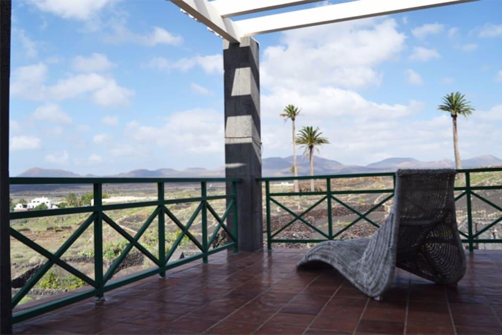 Magnífica terraza con vistas