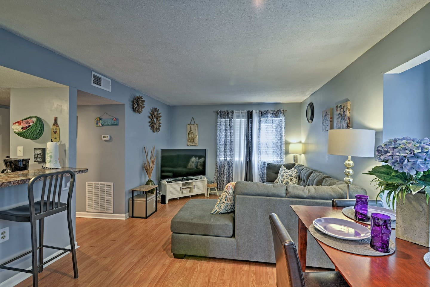 This 2-bed, 2-bath vacation rental condo has all the comforts of home!