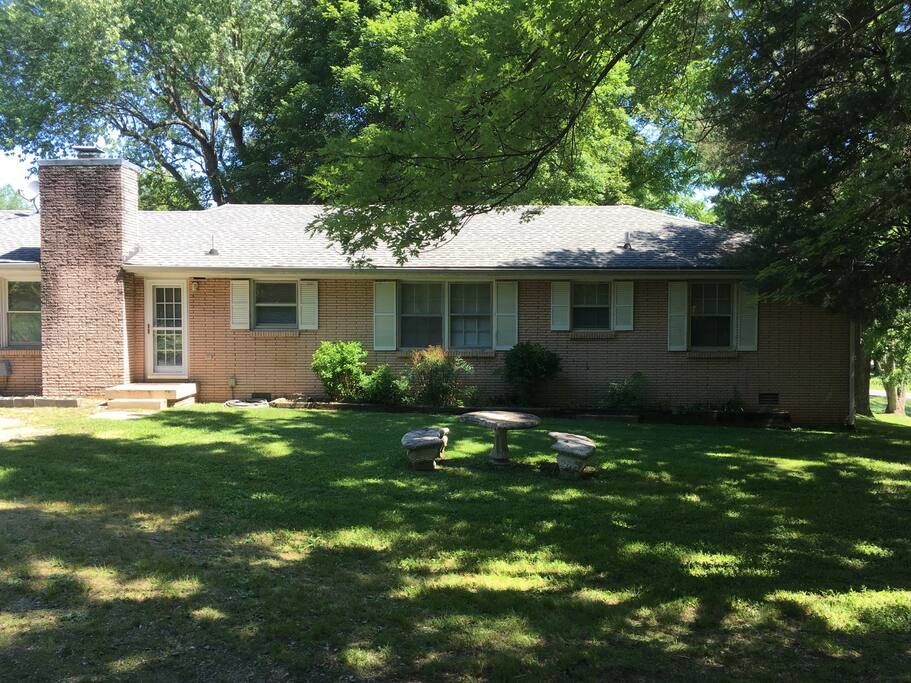 large, private backyard with room to picnic, relax in the sun or read in the shade.