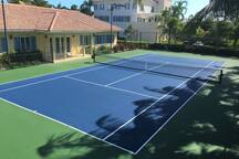 The Newly Refurbished Tennis Court