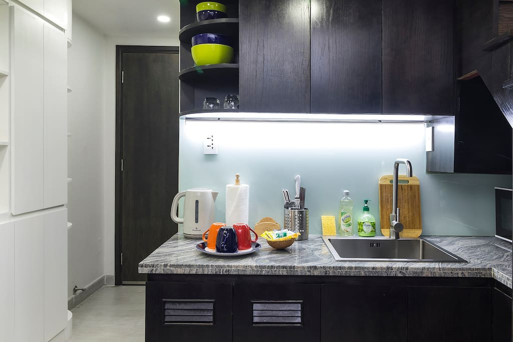 Kitchenette for basic cooking