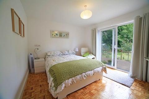 Spacious home,  private garden,  village location