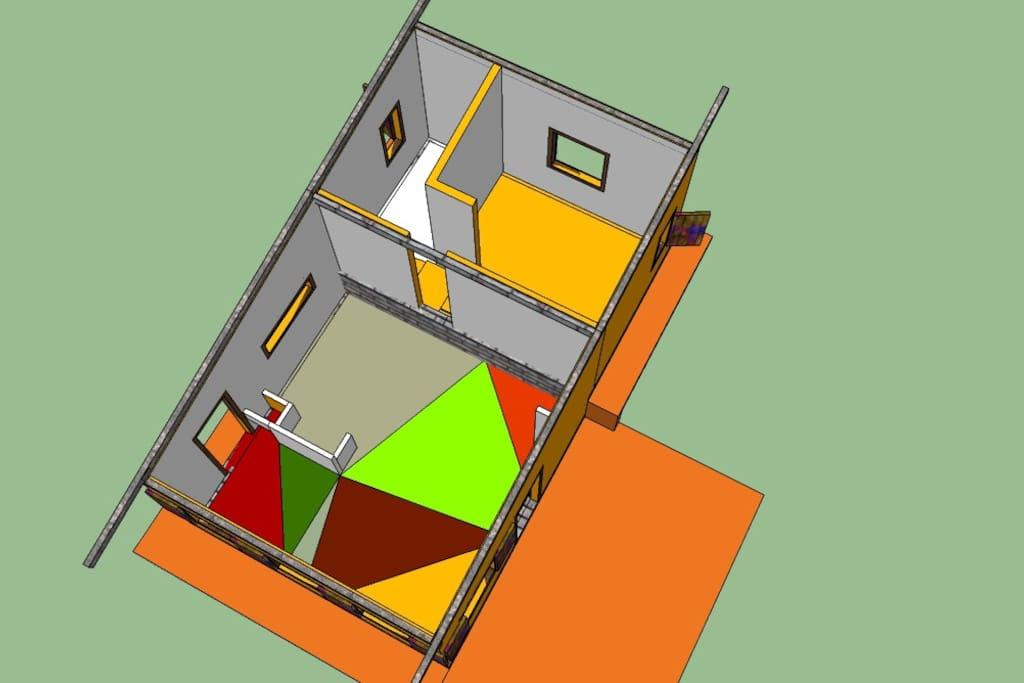 Planta da casa - projeto 3D