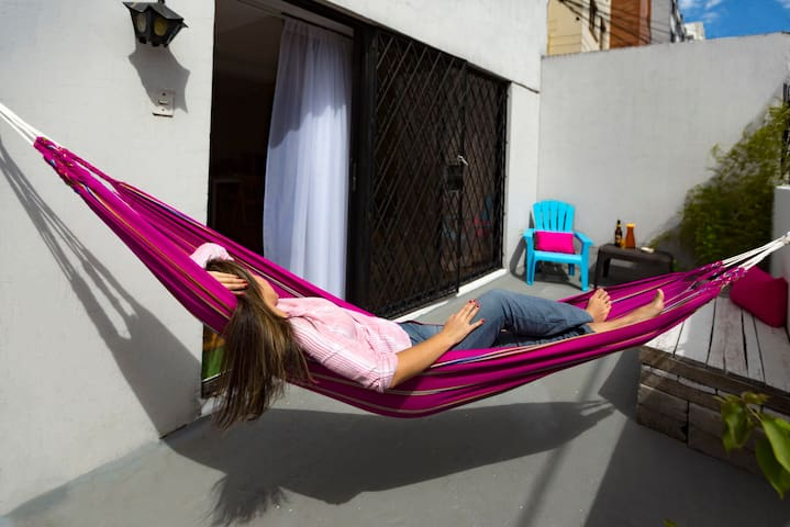 Suit with private terrace and hammock La Coruña