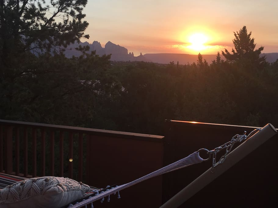 Sunrise in July from Deck and Hammock
