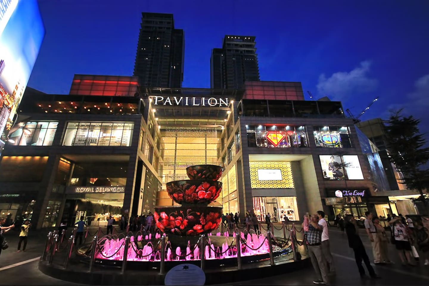 Pavilion Kuala Lumpur was built on the former site of Bukit Bintang Girls' School, the oldest school in Kuala Lumpur . Opened on 20 September 2007, the development consists of a premiere shopping centre, 2 blocks of serviced apartments