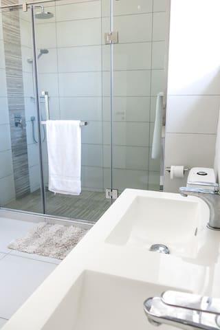 Second bedroom en-suite Bathroom with Large Shower